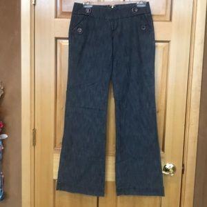 Wide leg zipper in the back jeans